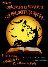 """Cartel del concurso literario """"Un Halloween de miedo"""""""