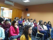 Charla impartida por alumnos de 2º Bachillerato, sobre Medio Ambiente y Cambio Climático