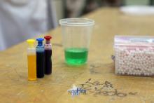 El material para el segundo experimento.