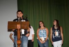 Alumnos de Bachillerato participantes en el Concurso Nacional de debates, nos contaron su maravillosa experiencia, animando a los demás alumnos a participar.