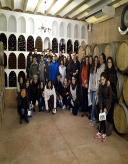 Algunos de los alumnos que asistieron a la visita.